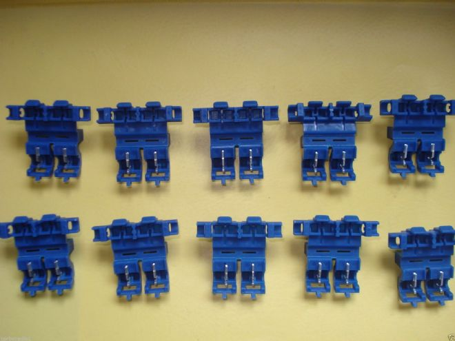 10 INLINE BLUE HEAVY DUTY BLADE FUSE HOLDERS TAXI METER RADIO CAR HGV 20amp max